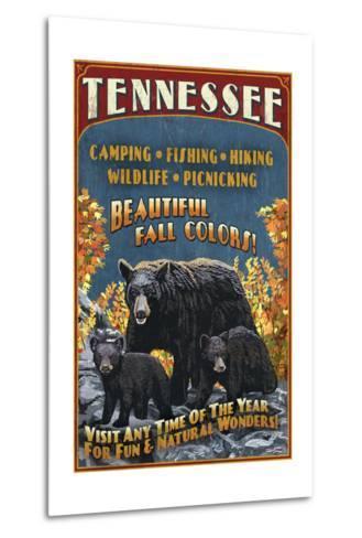 Tennessee - Black Bears Vintage Sign-Lantern Press-Metal Print