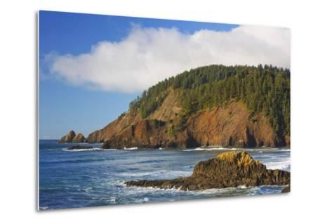 Afternoon Light along Short Beach and Indian Beach, Ecola State Park, Oregon Coast-Craig Tuttle-Metal Print