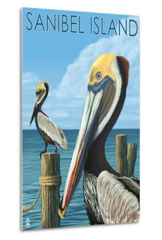 Sanibel Island, Florida - Pelican-Lantern Press-Metal Print