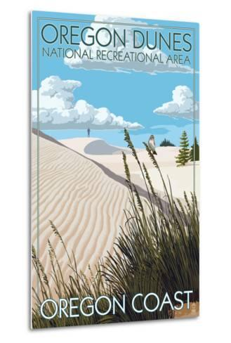 Oregon Dunes National Recreational Area - Day Scene-Lantern Press-Metal Print