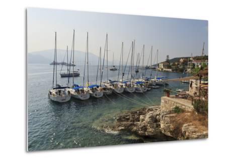 Yachts and Ships at Anchor, Fiskardo, Kefalonia (Cephalonia)-Eleanor Scriven-Metal Print