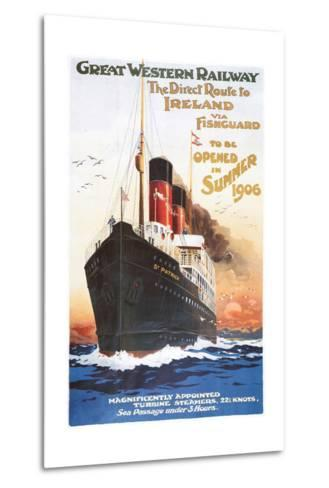 Great Western Railway - Steamship - Vintage Poster-Lantern Press-Metal Print