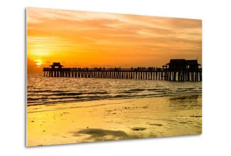Naples Florida Pier at Sunset-Philippe Hugonnard-Metal Print