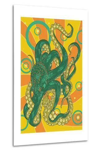 Kraken-Lantern Press-Metal Print