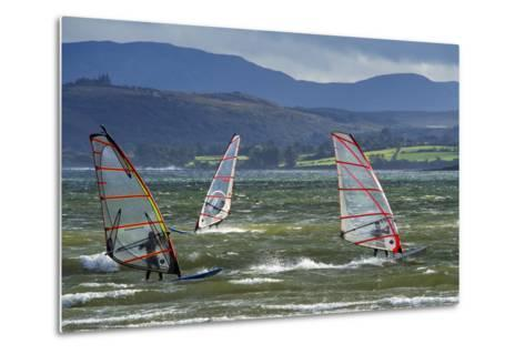 Windsurfing at Downings Sheephaven Bay, Donegal, Ireland-Chris Hill-Metal Print