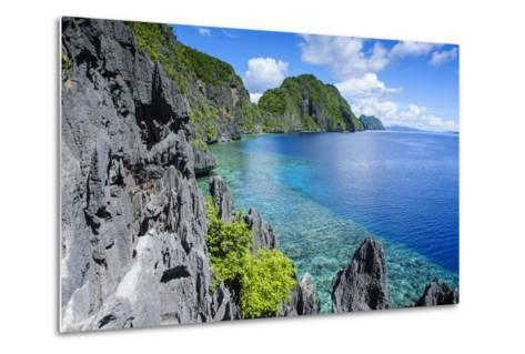 Crystal Clear Water in the Bacuit Archipelago, Palawan, Philippines, Southeast Asia, Asia-Michael Runkel-Metal Print