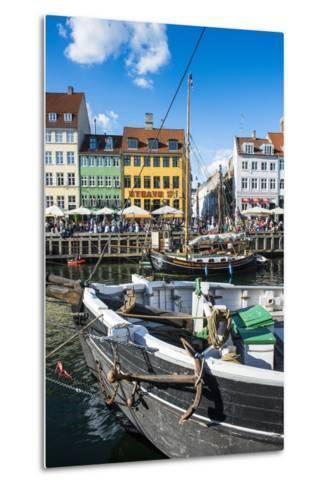 Fishing Boats in Nyhavn, 17th Century Waterfront, Copenhagen, Denmark, Scandinavia, Europe-Michael Runkel-Metal Print