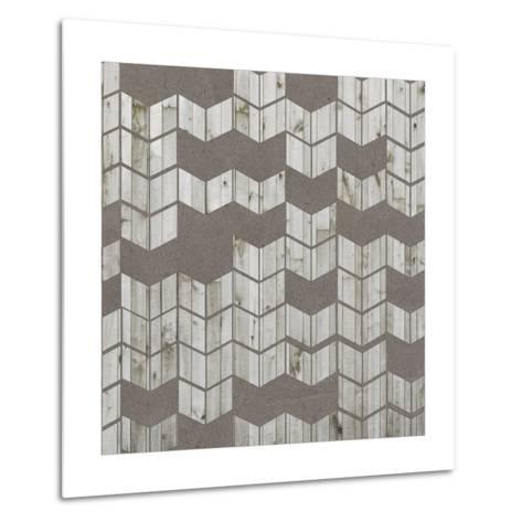 Chevron Cut Out I-Jennifer Goldberger-Metal Print