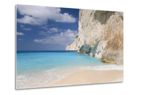 Limestone Cliffs Towering Above Turquoise Sea, Navagio Bay, Anafonitria-Ruth Tomlinson-Metal Print