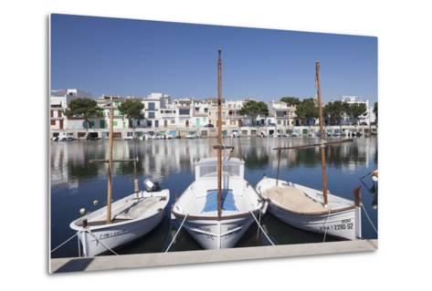 Fishing Boats at Fishing Port, Porto Colom, Majorca (Mallorca)-Markus Lange-Metal Print