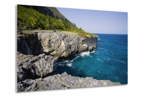 Coast of Samana Peninsula near Puerto El Fronton-Massimo Borchi-Metal Print