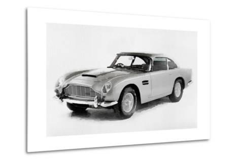 1964 Aston Martin DB5 Watercolor-NaxArt-Metal Print
