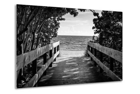 Boardwalk on the Beach-Philippe Hugonnard-Metal Print
