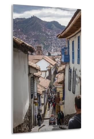Street Scene in San Blas Neighbourhood, Cuzco, UNESCO World Heritage Site, Peru, South America-Yadid Levy-Metal Print