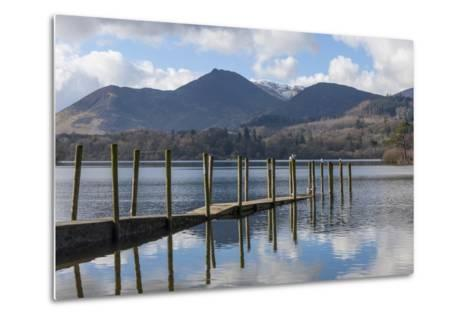 Lake Derwentwater, Barrow and Causey Pike, from the Boat Landings at Keswick-James Emmerson-Metal Print