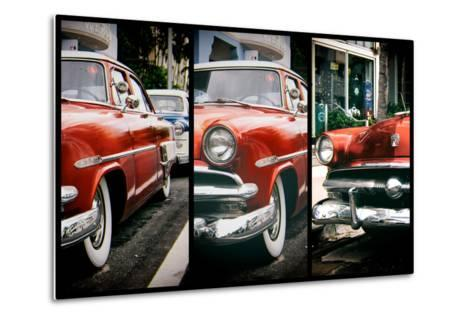 Triptych Collection - Classic Antique Ford of Art Deco District - Miami - Florida-Philippe Hugonnard-Metal Print