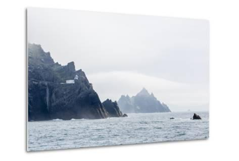Fog Shrouds the Skellig Islands-Michael Nolan-Metal Print