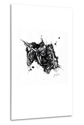 Inked Frog-James Grey-Metal Print