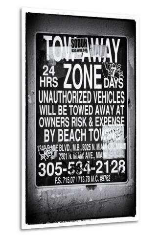 Miami Sign and Billboard - Miami Beach - Florida - USA-Philippe Hugonnard-Metal Print