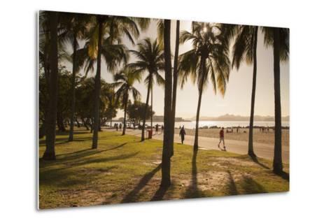 People, Flamengo Beach, Rio De Janeiro, Brazil, South America-Ian Trower-Metal Print