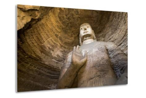 Buddha Caves, Datong, Shanxi Province, China-Paul Souders-Metal Print