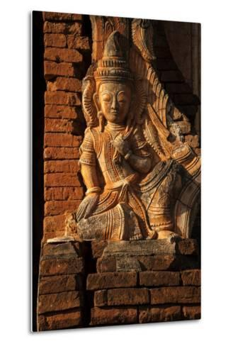 A Relief Carving at One of the Shwe Inn Thein Pagodas-Tino Soriano-Metal Print