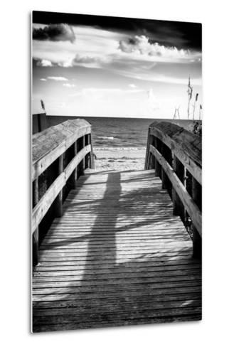 Boardwalk on the Beach at Sunset-Philippe Hugonnard-Metal Print