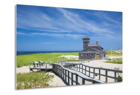 USA, Massachusetts, Cape Cod, Provincetown, Race Point Beach, Old Harbor Life-Saving Station-Walter Bibikow-Metal Print