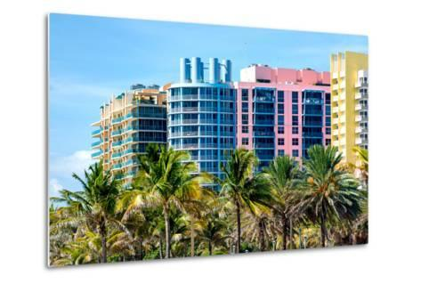 Art Deco Colors Architecture of Miami Beach - South Beach - Florida-Philippe Hugonnard-Metal Print