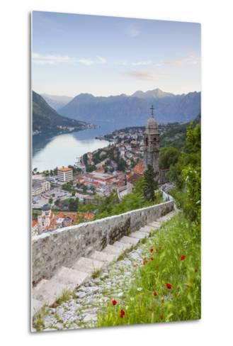 Elevated View over Kotor's Stari Grad (Old Town) and the Bay of Kotor, Kotor, Montenegro-Doug Pearson-Metal Print