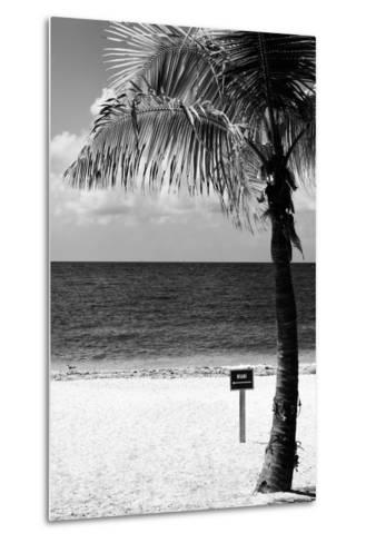 Miami Sign on the Beach - Florida-Philippe Hugonnard-Metal Print