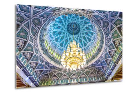 Oman, Muscat. the World's Largest Swarovski Cyrstal Chandelier in the Main Prayer Hall-Matteo Colombo-Metal Print