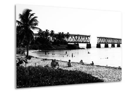 Old Bahia Honda Bridge Florida Keys - Bridges Roads-Philippe Hugonnard-Metal Print