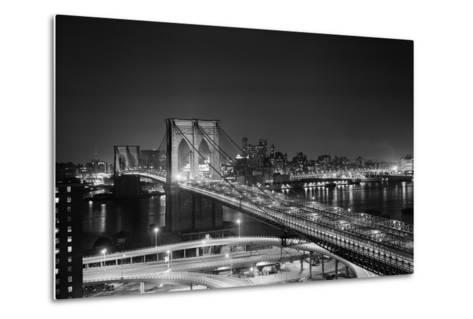 Brooklyn Bridge at Night-Philip Gendreau-Metal Print
