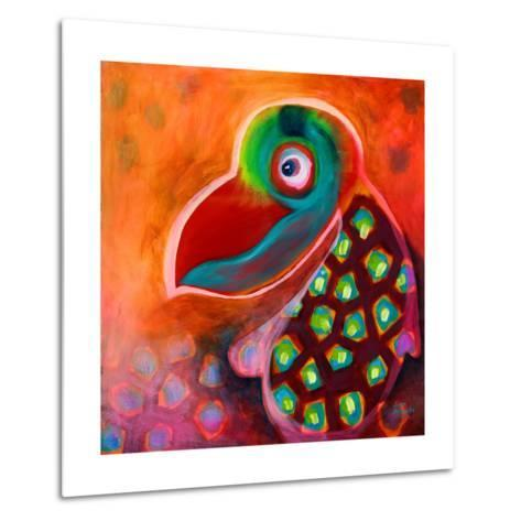 The Wise Parrot-Susse Volander-Metal Print