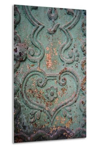 Paint Peels from a Green Painted Iron Door Panel of the Monasterio De Santa Catalina-Beth Wald-Metal Print