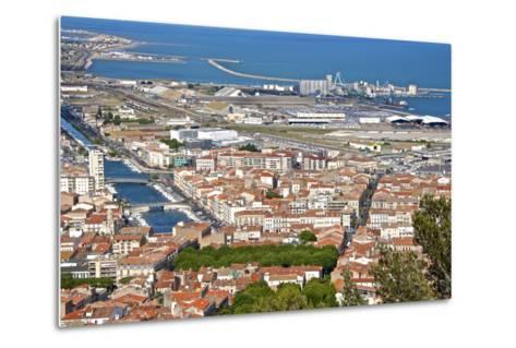 Port and Town, Sete, Herault, Languedoc-Roussillon Region, France, Europe-Guy Thouvenin-Metal Print