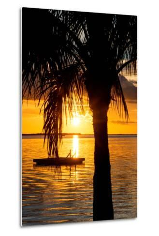 Sunset Landscape with Floating Platform - Miami - Florida-Philippe Hugonnard-Metal Print