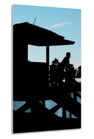 Life Guard Station at Sunset - Miami - Florida-Philippe Hugonnard-Metal Print