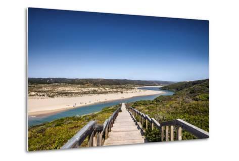 Footpath to the Beach, Praia Da Amoreira, Aljezur, Costa Vicentina, Algarve, Portugal-Sabine Lubenow-Metal Print