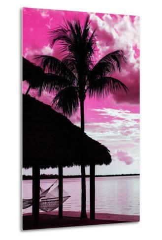 The Hammock and Palm Tree at Sunset - Beach Hut - Florida-Philippe Hugonnard-Metal Print