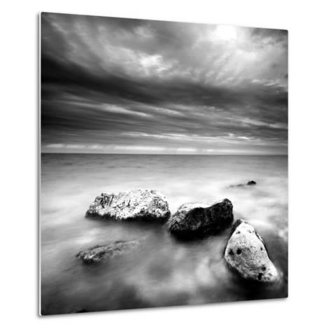 Rocks on Beach--Metal Print