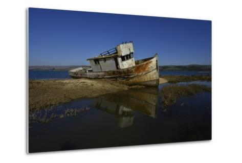 The Wreck of a Fishing Boat-Raul Touzon-Metal Print