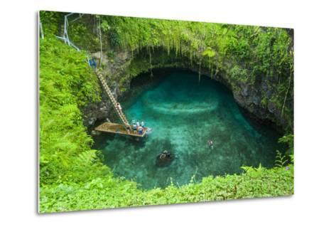 To Sua Ocean Trench in Upolu, Samoa, South Pacific, Pacific-Michael Runkel-Metal Print