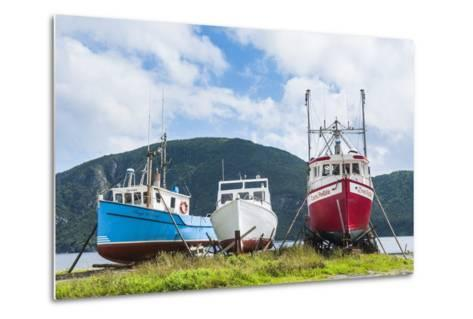 Fishing Boat in Corner Brook, Newfoundland, Canada, North America-Michael Runkel-Metal Print