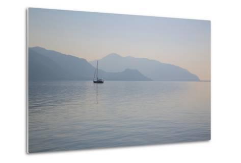 Boat on Aegean Sea, Marmaris, Anatolia, Turkey, Asia Minor, Eurasia-Frank Fell-Metal Print