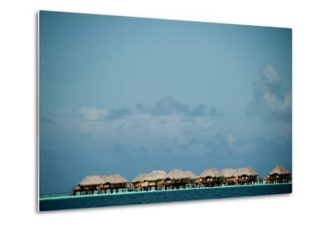 Vacation Cottages over Water on Bora Bora-Karen Kasmauski-Metal Print