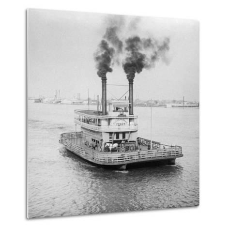 Ferry Boat on the Mississippi River--Metal Print