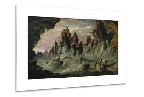 Shipwrecked Boats Battling the Storm-Gustave Dor?-Metal Print