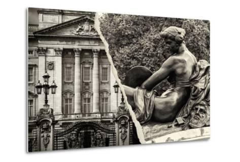 Dual Torn Posters Series - London-Philippe Hugonnard-Metal Print